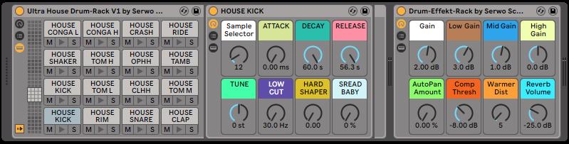 Drum Rack vom Ultra House Drum-Pack Vol.1 Bild